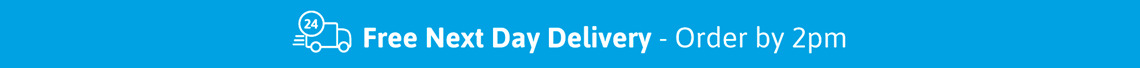 Free next day delivery on week day orders by 2pm