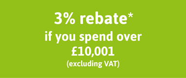Spend Over 10,001 to get a 3% Rebate