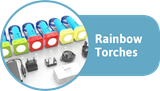 Rainbow torches