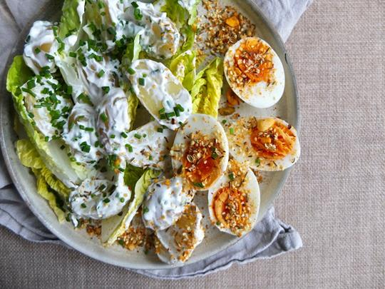 New Potato and Egg Salad with Dukkah