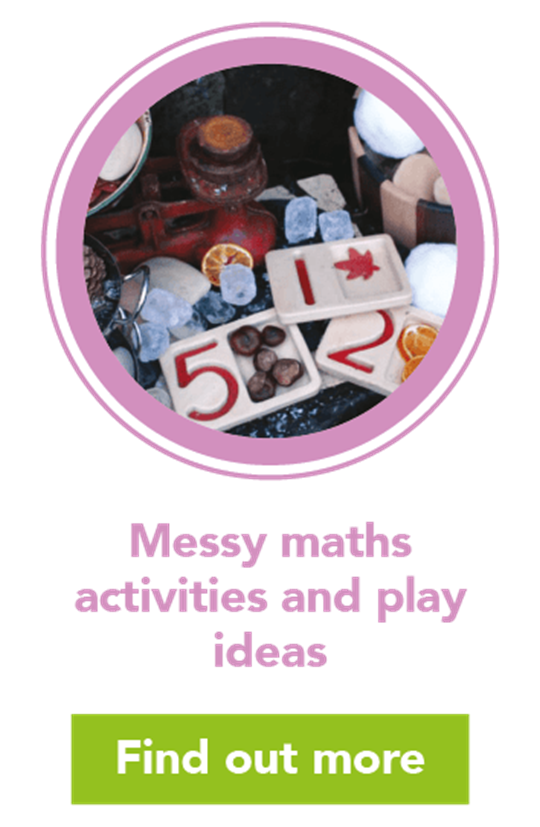 Messy maths: mud kitchen play