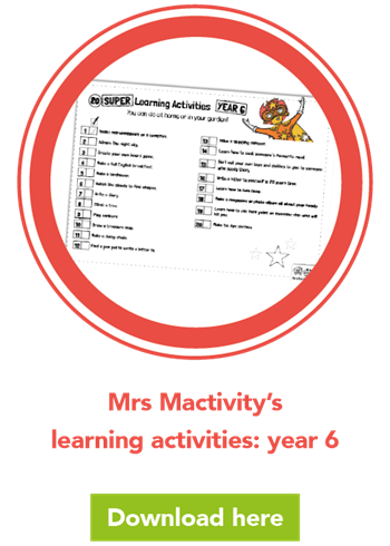 Mrs Mactivity's learning activities: year 6