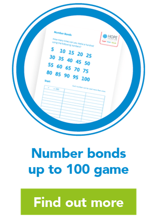 Number bonds up to 100 game