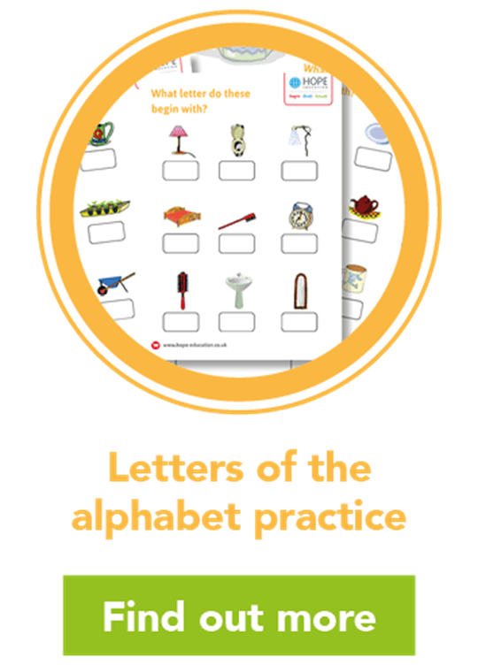 Letters of the alphabet practice