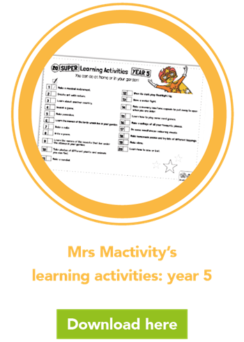 Mrs Mactivity's learning activities: year 5