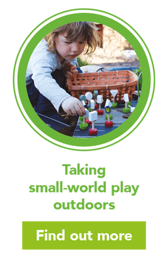 Small world outdoor play: learning benefits