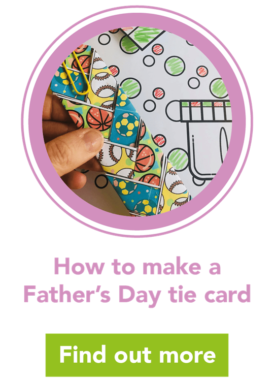 Easy Father's Day crafts: tie card and bookmark