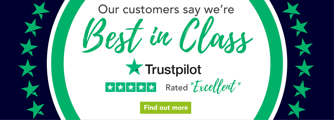 "Trustpilot rated ""Excellent"""