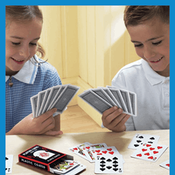 Using playing cards for intervention