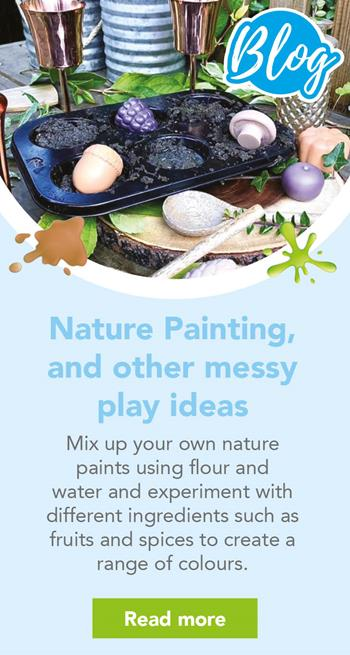 Nature Painting and other messy play ideas
