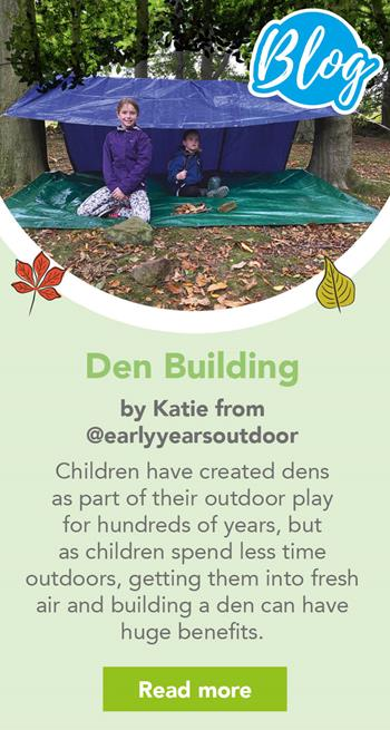 Den Building by Katie from @earlyyearsoutdoors